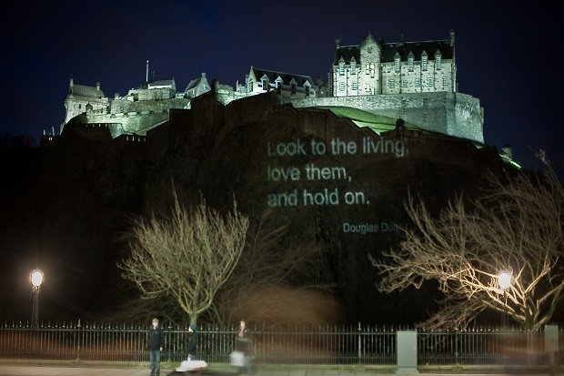 Poetry projected on Edinburgh Castle.jpg
